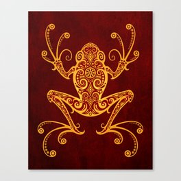 Intricate Red and Yellow Tree Frog Canvas Print