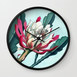 Flowering cactus III Wall Clock