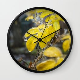 Frozen Drops Wall Clock