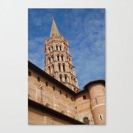 La tour de la  basilique Saint Sernin à Toulouse  Canvas Print