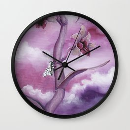 The Leopard Moth's Cattleya Wall Clock
