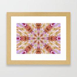 The Buckeye Butterfly Kaleidoscope Framed Art Print