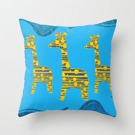 Giraffe Abstract Throw Pillow