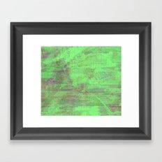 green seas of Mars Framed Art Print