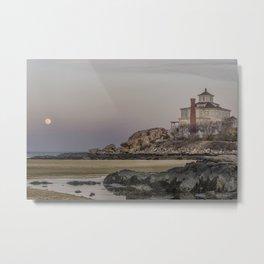 Moon rise at Good Harbor Beach 4-21-16 Metal Print