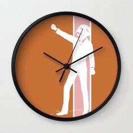 Rusty Rose Revolution Wall Clock