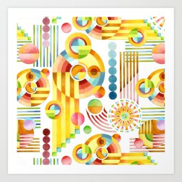 Abstract Art Deco Kunstdrucke