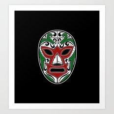Mexican Wrestling Mask - Color Edition Art Print