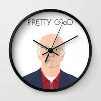 seinfeld Wall Clocks featuring Larry David // Curb Your Enthusiasm // Graphic Design // Seinfeld by Dick Smith Designs