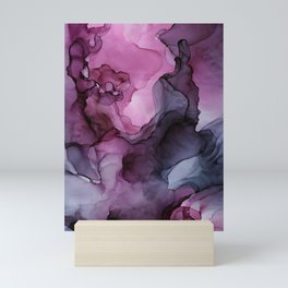 Abstract Ink Painting Ethereal Flowing Watercolor Nebula Mini Art Print