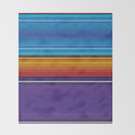Mexican serape #4 Throw Blanket