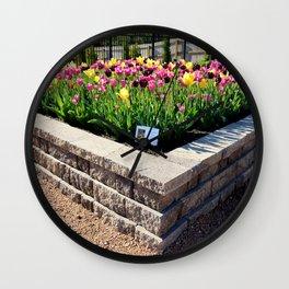 "Muscogee (Creek) Nation - Honor Heights Park Azalea Festival, Tulip ""Critical Mass"" Wall Clock"