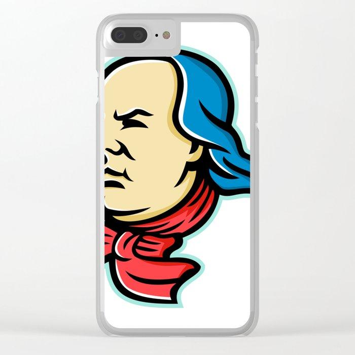 Benjamin Franklin Mascot Clear iPhone Case