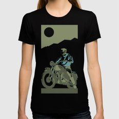 the great escape Black Womens Fitted Tee MEDIUM