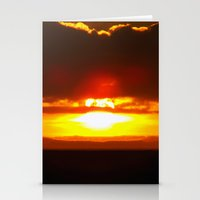 sunset Stationery Cards featuring Sunset by Aaron Carberry