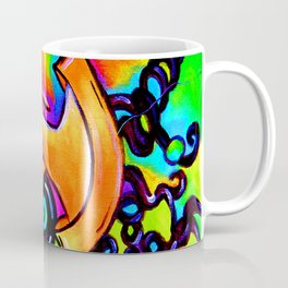 Abstract bold and colorful musical instrument Coffee Mug