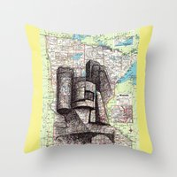 minnesota Throw Pillows featuring Minnesota by Ursula Rodgers