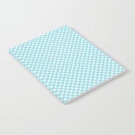 Pastel Blue Heart Pattern Notebook
