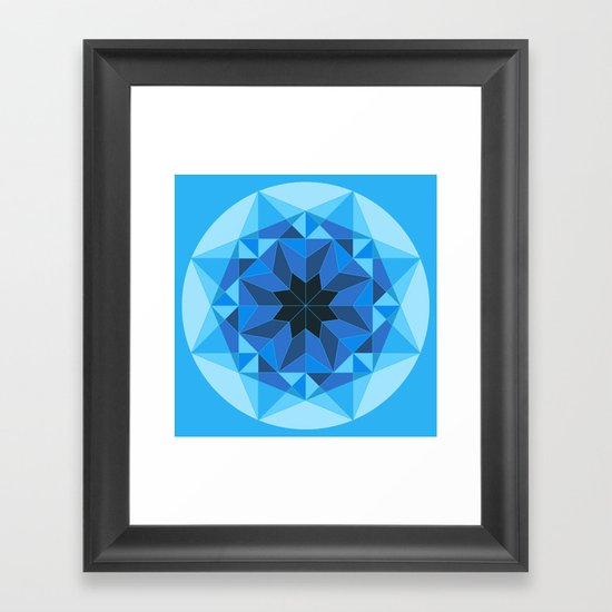 Deconstructed Diamond Framed Art Print