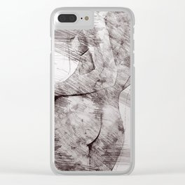 Nude woman pencil drawing Clear iPhone Case