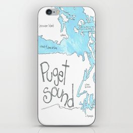 Puget Sound by Seattle Artist Mary Klump iPhone Skin