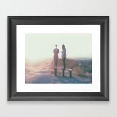 Life's a blur. Framed Art Print