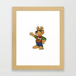 cartoon dog repair man Framed Art Print