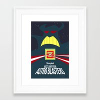buzz lightyear Framed Art Prints featuring The Tomorrowland Series: Buzz Lightyear Astro Blasters by The Disneyland Minimalist
