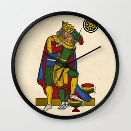 The Kiss (Neapolitan cards) Wall Clock