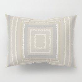 Sandy Beige Concentric Squares Pillow Sham
