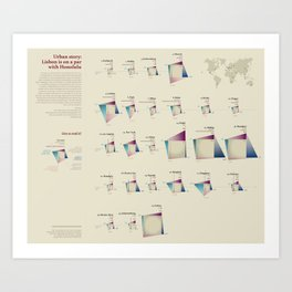 Urban story (Visual Data 16) Art Print