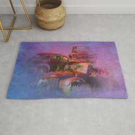 cars lost in the mist of time Rug