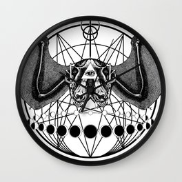 Occult Bat Wall Clock