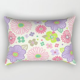 happy flowers Rectangular Pillow