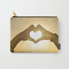 Hand Heart into the Sunset Carry-All Pouch