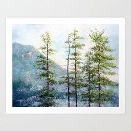 Morning Mist on Mooselamoo Art Print