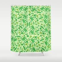vegetable Shower Curtains featuring Vegetable salad by Tony Vazquez