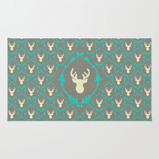 Oh Deer (white) Rug