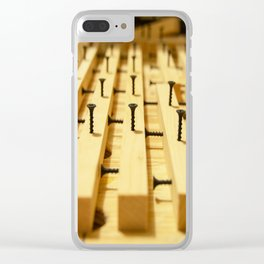 Wood and Screws Clear iPhone Case