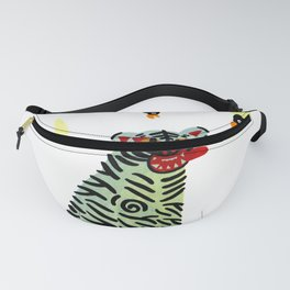 Korean traditional tiger painting by yoonhyehe Fanny Pack