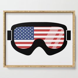 USA Goggles | Goggle Designs | DopeyArt Serving Tray