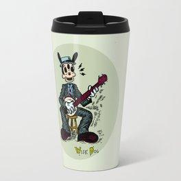Wise Dog and his Banjo Travel Mug