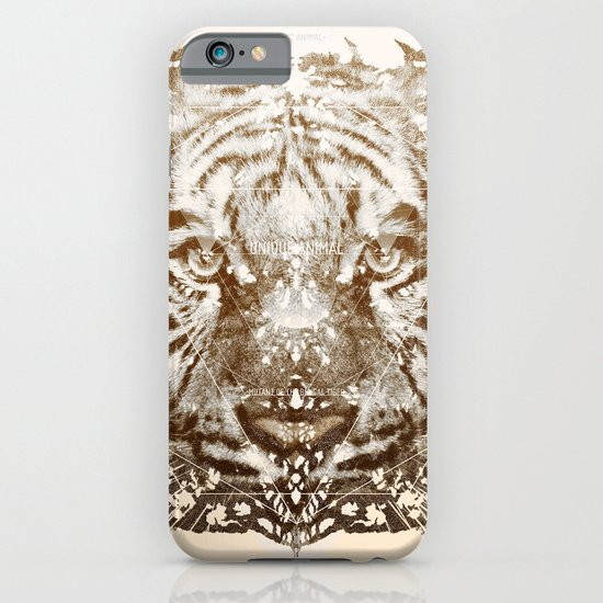 The White Tiger (Gold Version) iPhone & iPod Case