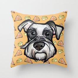 Peter loves pizza and cheese Throw Pillow