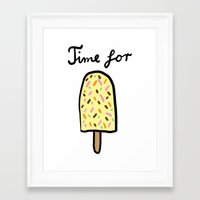 popsicle Framed Art Prints featuring Popsicle by Ena Jurov