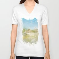 rome V-neck T-shirts featuring Rome by FarbCafé