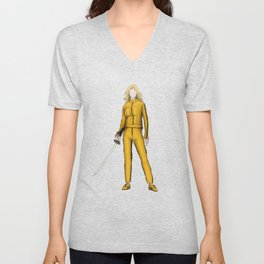 The Bride without a face (Kill Bill) Unisex V-Neck