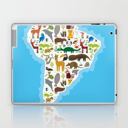 South America sloth anteater toucan lama bat seal armadillo boa manatee monkey dolphin Maned wolf Laptop & iPad Skin