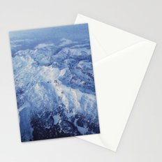 Winter Mountain Range II Stationery Cards