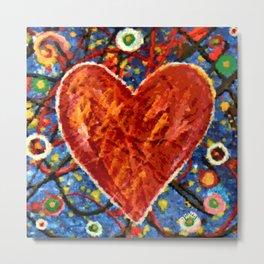 Painted Heart Metal Print